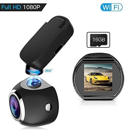 Car Dash Cam WiFi FHD 1080P Car Dash Camera Mini 360 Degree