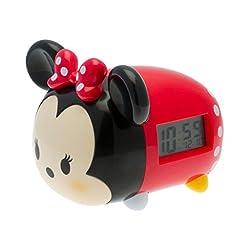 BulbBotz Disney Tsum Tsum Minnie Kids Light Up Alarm Clock   black/red   plastic   7.5 inches tall   LCD display   boy girl   official