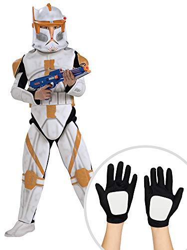 Star Wars Commander Cody Costume Kit Kids Medium With Clonetrooper Gloves ()