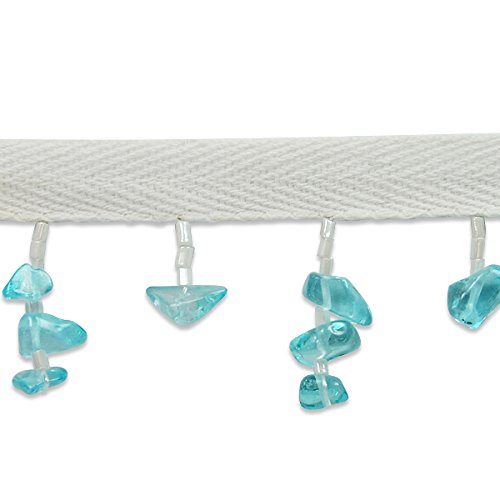Expo International IR6950TR-10 10 Yards of Sea Glass Chip Fringe Trim, Turquoise by Expo International