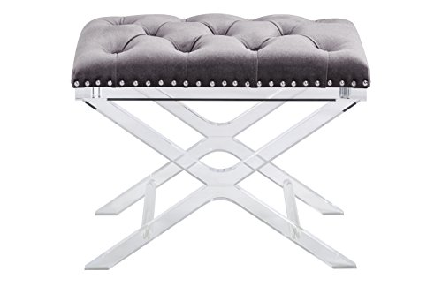 698043009113 - Sunpan Modern 100957 Allura Bench with Light Grey Fabric carousel main 1