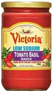 Victoria LOW SODIUM Tomato Basil Sauce, 25 oz.