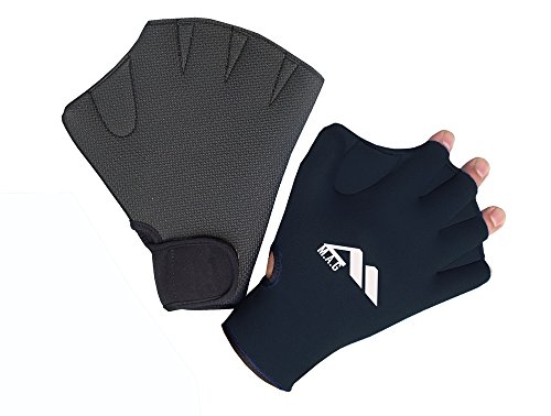 M.A.G professional neoprene swimming and water sport training gloves (Black, Large)