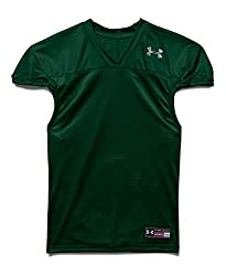 Under Armour Kids' Football Jersey, Black (001), Youth Small