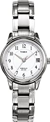 Timex T29271 Ladies Classic White Steel Watch