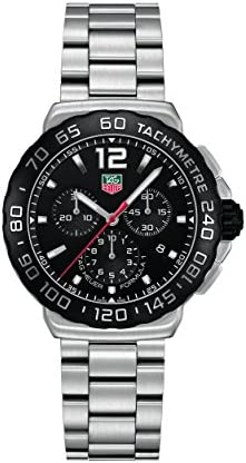 TAG Heuer Men s CAU1110.BA0858 Formula 1 Black Dial Chronograph Steel Watch