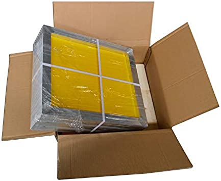 INTSUPERMAI 6pc 20inch x24inch Aluminum Silk Screen Frame with 230 Mesh Yellow Pre-Stretched Silk Screen Printing Frame