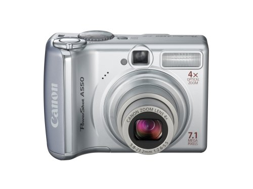 - Canon PowerShot A550 7.1MP Digital Camera with 4x Optical Zoom