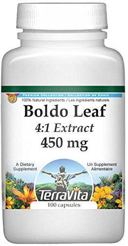 Extra Strength Boldo Leaf 4:1 Extract – 450 mg (100 capsules, ZIN: 511248)