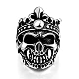 Anyeda Couple Rings Anniversary Womens Ring Size N Men Rings Skull Ring Size V 1/2