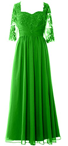 Bride Of Formal Half Evening Women Green Dress Sleeve Gown Lace Mother Macloth X8zqxTE