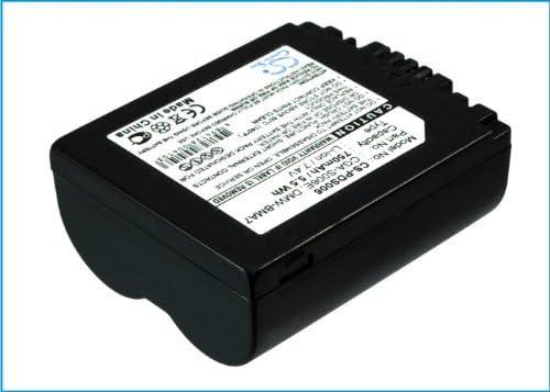 Lumix DMC-FZ18EG Lumix DMC-FZ18 Lumix DMC-FZ18S, Lumix DMC-FZ18EB-K Lumix DMC-FZ18GK Lumix DMC-FZ18EG-S PANASONIC Lumix DMC-FZ18EG-K CS-PDS006 Batterie 750mAh Compatible avec Lumix DMC-FZ18K