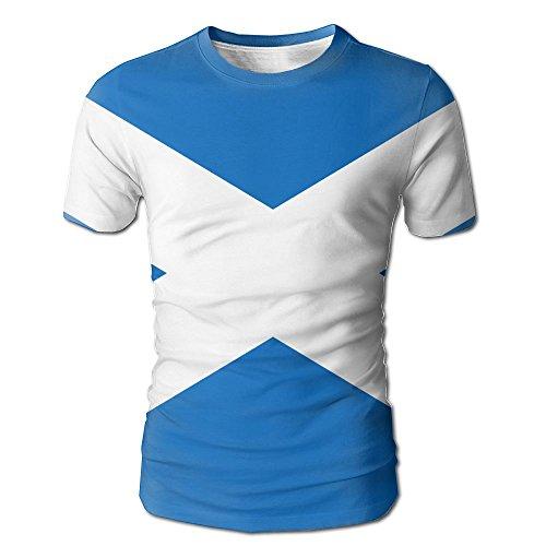 Flag Of Scotland Men's Short Sleeved T-Shirt Full Side Print Shirt For Men