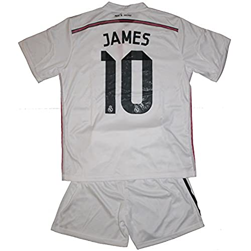 2014/2015 James Rodriguez 10 Home Real Madrid Football Soccer Kids Jersey & Short (14-16 YEARS)