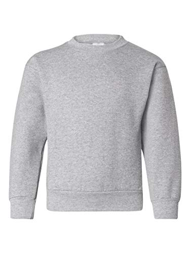 Hanes Youth EcoSmart Crew, Light Steel, Large by Hanes