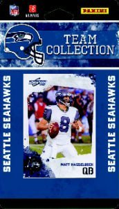 2010 Score Seattle Seahawks Team Set of 14 NFL cards with Ultra Pro 4 Pocket Notebook! Set includes Russell Okung Rookie Card, Matt Hasselberck, Golden Tate Rookie Card & more