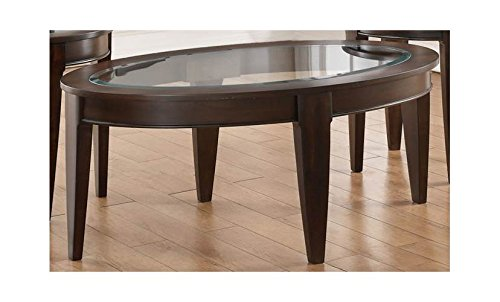 Simmons Upholstery Oval Cocktail Table, Merlot