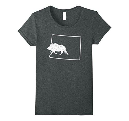 Javelina Target (Womens Javelina Target Wyoming Pig Attractant Shirt Wild Hog Medium Dark Heather)