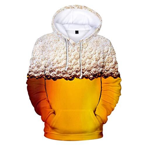 (Men's Beer Festival 3D Printing Long Sleeve Hoodies Sweatershirt Tops)