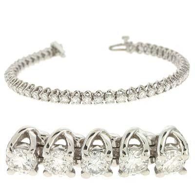 14Ct ct diamant blanc 3 jewelryWeb bracelet de tennis
