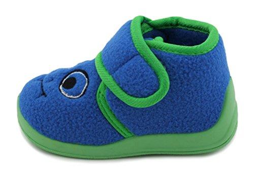SlumberzzZ - Zapatillas de estar por casa de Material Sintético para niño Azul - azul