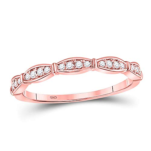 Ladies Ring 10kt Gold Jewelry - Dazzlingrock Collection 10kt Rose Gold Womens