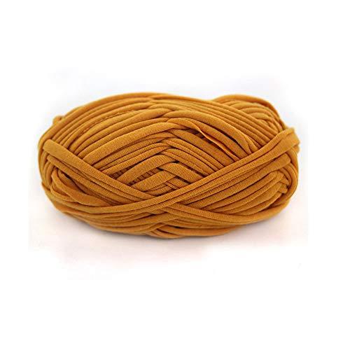 Clisil T-Shirt Yarn,Recyled Fabric Yarn,Home Textile Yarn,Mustard Crochet Yarn,Basket Yarn,Fabric Yarn,Bag Yarn,Upcycled Yarn 100g