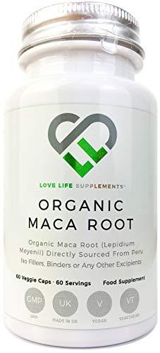 Pure Organic Maca Root by LLS, 600mg per Capsule, 60 Vegan Capsules, No...