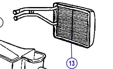 - Mopar 0507 3180AB, HVAC Heater Core