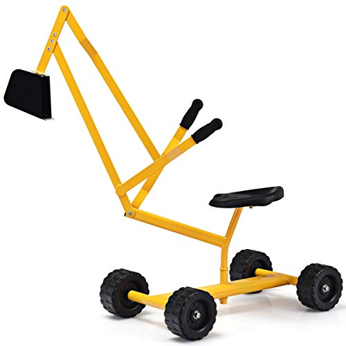 Yellow Metal Sand Digger Hobbies Outdoor Toy & Structures Sand & Water Sandbox Toys and Sandboxes Hobby Preschool Toys Pretend Play Home & Games Play Conveyance Trucks Construction Vehicles, Outgoing from Lek Store