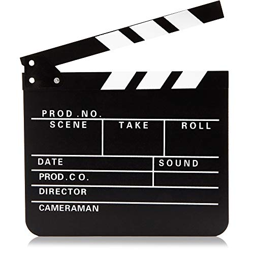 Juvale Clapper Board - Hollywood Director Film Slate, Clapboard Prop for Film, Movie Decoration Black 11.81 x 0.59 x 10.31 Inches from Juvale