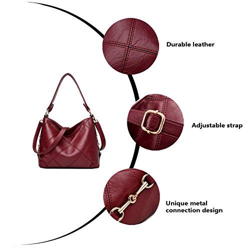 Shoulder Ladies Artwell Hobo Handbag Purse Bag Tote Leather Handbag Black Large Satchel Women wq8XHaBq
