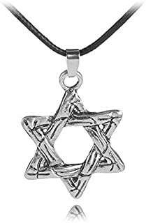 ningbao651 Long Pendant Necklace Female Vintage Star of David Pendants Jewelry