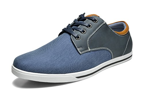 Bruno Marc Men's RIVERA-01 Navy Oxfords Shoes Sneakers - 12 M US ()
