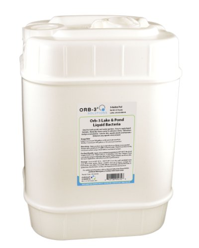 Orb-3 Lake and Pond Liquid Bacteria for Maintenance, 5-Gallon Pail