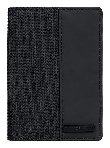 (Quiksilver Mens Blackwine Cork Bifold Wallet Black M)