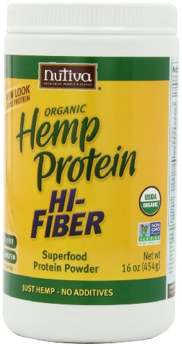 Nutiva chanvre biologique Protein Salut fibre, bocaux de 16 onces (Pack de 2)