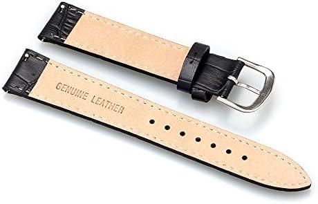 EMPIRE BRUNA ブルーナ カーフ レザー 本革 クロコ 時計 ベルト イージークリック 17mm ブラック