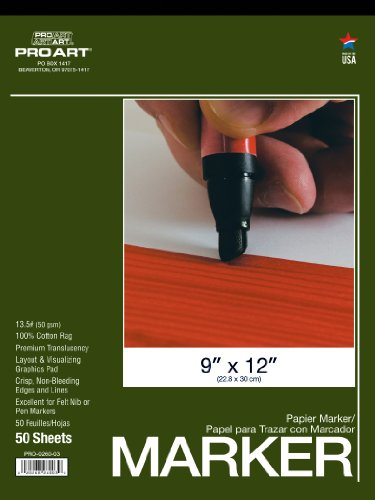 Pro Art 9-Inch by 12-Inch Layout Marker Paper Pad by PRO ART