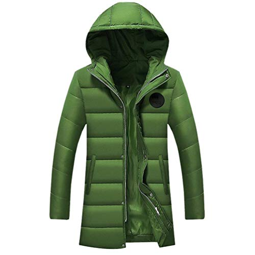 Outwear Hooded Waterproof Warm Parka Long Grün BoBoLily Windproof Soft Padded Men's Leisure Quilted Warmth Winter Thicken Down Coat Jacket g7T48qv7