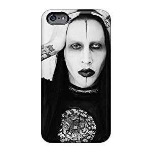 Iphone 6 Iqt1296DPPW Custom High-definition Marilyn Manson Band Skin Shock Absorption Cell-phone Hard Cover -KevinCormack