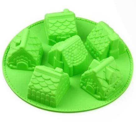 1 piece 6 Cavities Moulds Silicone Cake Baking Mold Cake Pan Muffin Cups Handmade Soap Moulds Biscuit Chocolate DIY Mold Village House]()