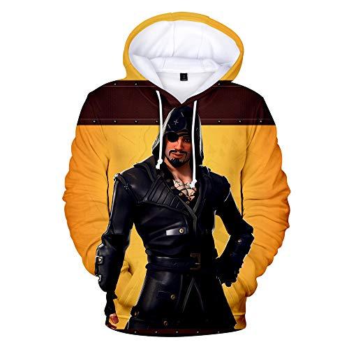 Mens 3D Printed Hoodies Long Sleeve Sweatshirt for Mens Game Theme Pullover Hooded L