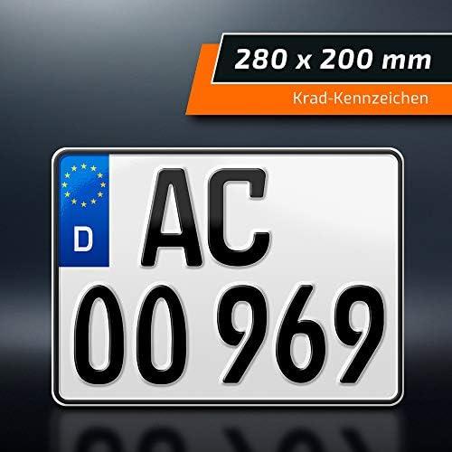 Schildevo 1 Kfz Kennzeichen 280 X 200 Mm Motorrad Roller Saison Quad Suv Anhänger Motorrad Kennzeichen Auto