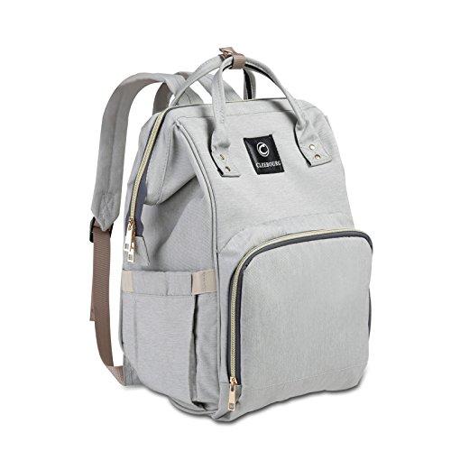 Diaper Bag Backpack, CLEEBOURG Multi-Functional Nappy Bag Travel Mom Bag Backpack Waterproof Maternity Bag Backpack Diaper Changing Bag Travel Nappy Bag with Diaper Changing Pad for Baby Care
