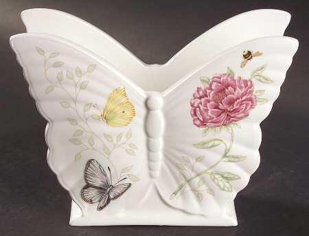 Lenox Butterfly Meadow Figurine Napkin Holder, Fine China Dinnerware