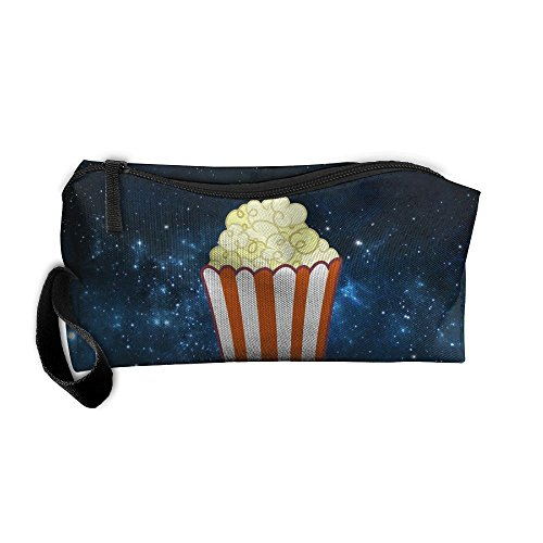 Portable Make-up Receive Bag Popcorn Art Travel&home Storage Bag Zipper Organization Space Saver Canvas Buggy Pouch