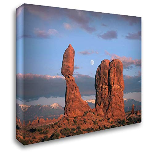 Moon Over Balanced Rock, Arches National Park, Utah 36x28 Gallery Wrapped Stretched Canvas Art by Fitzharris, Tim Balanced Rock Arches National Park