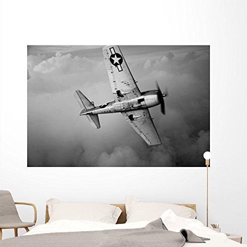 Grumman F6f Hellcat Fighter Wall Mural by Wallmonkeys Peel and Stick Graphic (72 in W x 48 in H) WM54503
