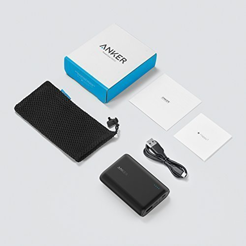 Anker PowerCore 10000 One of the Smallest and Lightest 10000mAh External batteries extremely stream-lined substantial tempo Charging concept strength Bank for iPhone Samsung Galaxy and significantly more handheld strength Banks